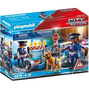 PLAYMOBIL 6878 Barrage de police