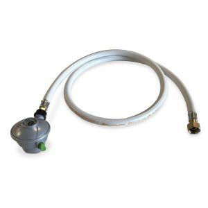 Tuyau flexible de gaz 1,5 m embouts mécaniques + Détendeur Quick-on Ø27mm Butane 28mbar 1,3kg/h