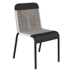 Chaise de jardin Tobago noire