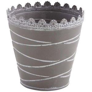 Aubry Gaspard - Cache-pot à rayures en métal laqué