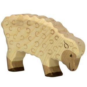 Figurine en bois Holztiger : Animaux de la Ferme : Mouton mangeant