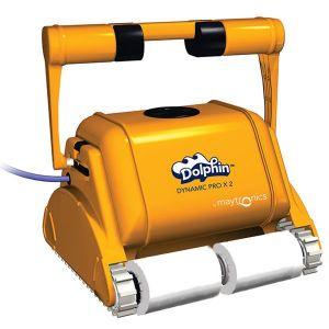 dolphin - robot electrique de piscine professionnel 25m brosse mousse - dynamic prox 2 gyro mousse