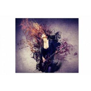 Tableau Rock Femme Rockeuse 60X60 cm EVE