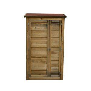 Armoire de rangement de jardin en bois traité 98x45x153cm, Lisboa