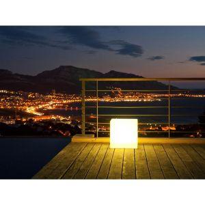 Cube lumineux tabouret sans fil led CARRY C40