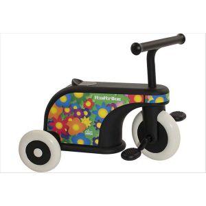 Porteur tricycle bébé à fleurs