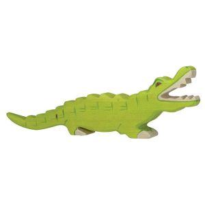 Figurine en bois Holztiger : Animaux de la Jungle : Crocodile