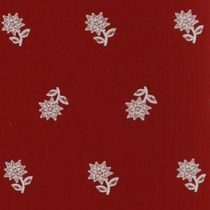Housse pour canapé convertible gigogne 3 places Dahu Edelweiss blanc rouge