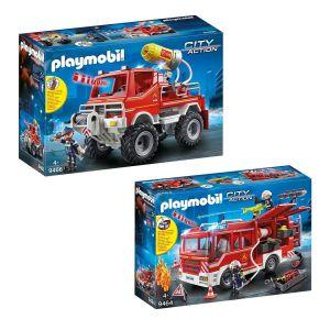 City Action - Set de 2 Boîtes Playmobil sur le thème des pompiers
