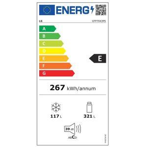 Refrigerateur congelateur en haut GTF7043PS