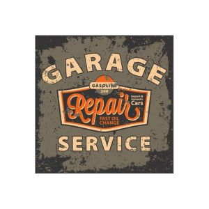 Tableau Vintage Garage Repair Service 80X80 CLARENCE