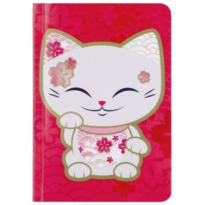 Carnet de notes Mani the Lucky Cat Rouge