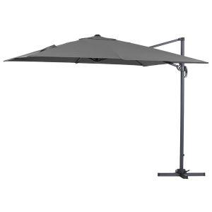 """Parasol jardin déporté Alu """"Sun 3"""" - Carré - 3 x 3 m - Noir"""
