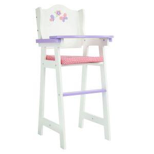 Chaise haute de poupon poupée bois Little Princess