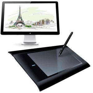 Tablette Graphique 8x5 Pouces Compatible Windows Mac Palette Dessin 3D