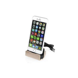 Station d'accueil pour iPhone dorée Charge synchronisation lightning
