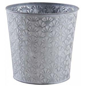 Aubry Gaspard - Cache-pot rond en métal patiné relief Cesar