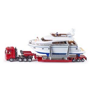 Modèle réduit en métal : Camion surbaissé avec yacht