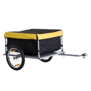 Remorque de transport vélo noir jaune