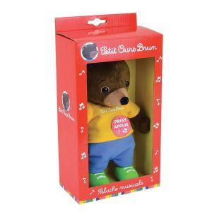 Petit ours brun - peluche musicale 20 cm