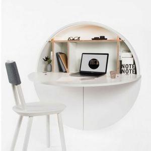 PILL - bureau blanc 30.5 x ø 110 cm