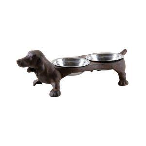 Double gamelle chien en fonte