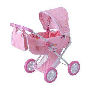 Olivia's Little World 'Twinkle Stars' Délux Poupée Poussette Rose OL-00011