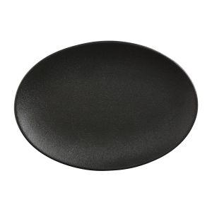 Plat ovale en porcelaine 30x22cm - CAVIAR