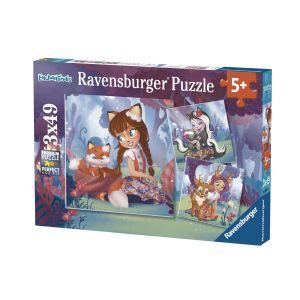 Puzzles 3x49 p - le monde merveilleux des enchantimals