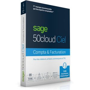 Logide gestion Sage 50cloud COMPTA+FACTURATION 1an