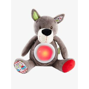 Peluche veilleuse musicale Loup