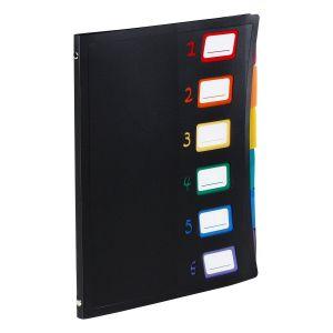 Trieur en plastique 6 compartiments - Format A4 - Rainbow Class