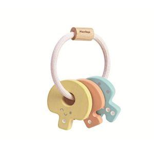 Hochet clés pastel