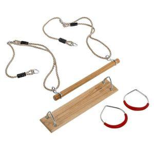 Kit 3 accessoires balançoire + anneaux de gym + trapèze