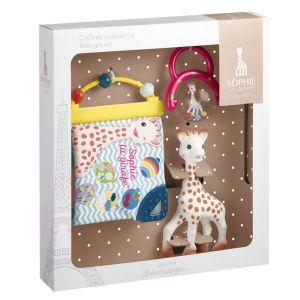Coffret de naissance Sophie la girafe : Livre d'éveil et hochet