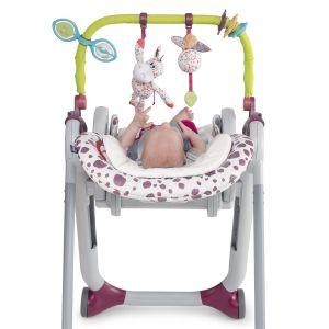 Kit barre de jeu + coussin réducteur pour chaise haute