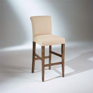 Chaise de bar ALIX, lin