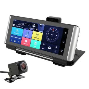 Dashcam Tactile GPS 7'' 12 MP Caméra de recul