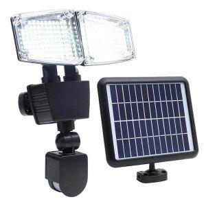 Projecteur solaire à 2 têtes H23cm