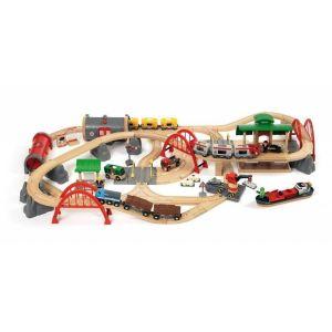 BRIO World  - 33052 - CIRCUIT DE CHEMIN DE FER DELUXE 70 PCES - BRI33052000