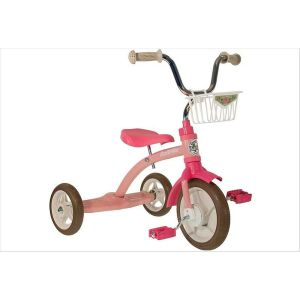 Tricycle fille rétro rose