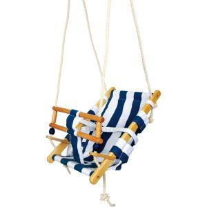 Balançoire transat pour bébé - Blanc/Bleu