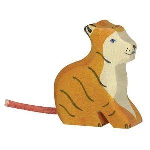 Figurine en bois Holztiger : Animaux de la Jungle : Tigre petit
