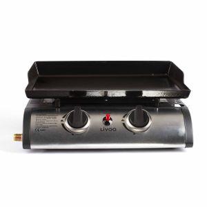 plancha gaz 5000w plaque tôle émaillée 47x36cm - doc150