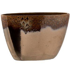 Pot de Fleur en céramique marbrée