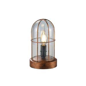 Lampe salon Cuivrée Port de Honfleur