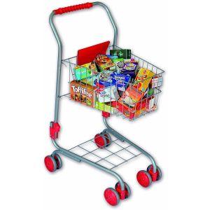 Chariot de supermarché en métal avec 40 miniatures