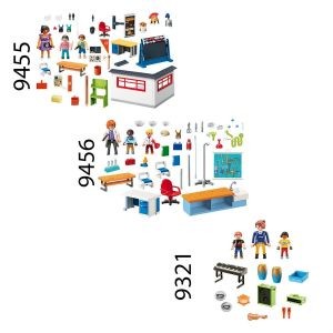 Playmobil 9455-56-9321 City Life - Set de 3 boites sur le thème de l'école