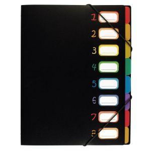 Trieur 8 compartiments en plastique A4 - Rainbow Class