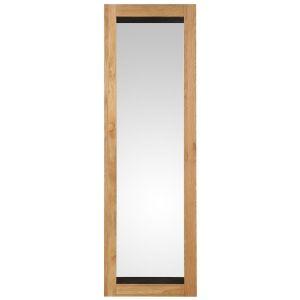 Miroir rectangulaire chêne 190 x 60 cm Boston